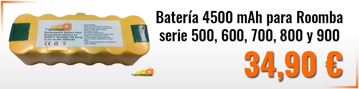 Batería 4500 mAh para Roomba serie 500, 600, 700, 800 y 900