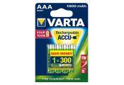 Pila Varta recargable Micro AAA lista para uso NiMH 1000 mAh - Blister 4