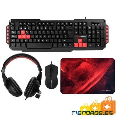 Mars Gaming MRCP1 Combo 4x1 Tec+Rat+Alf+Auric.