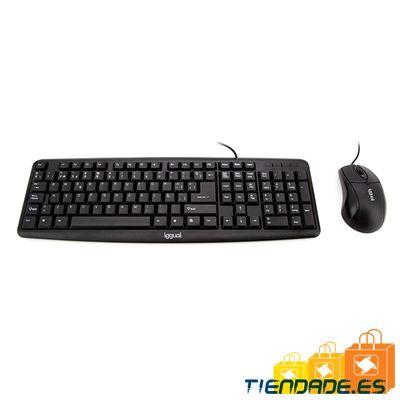 iggual Kit teclado y ratón COM-CK-BASIC negro