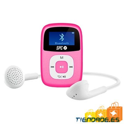 "SPC Mp3 8GB 8668P Bluetooth FM Pantalla de 1"" Rosa"