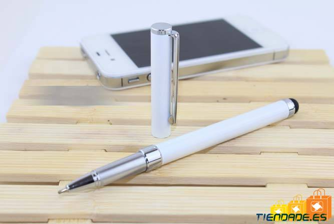 Puntero 2 en 1 para iPhone 4, 3g, 3GS, iPad, Samsung, blanco