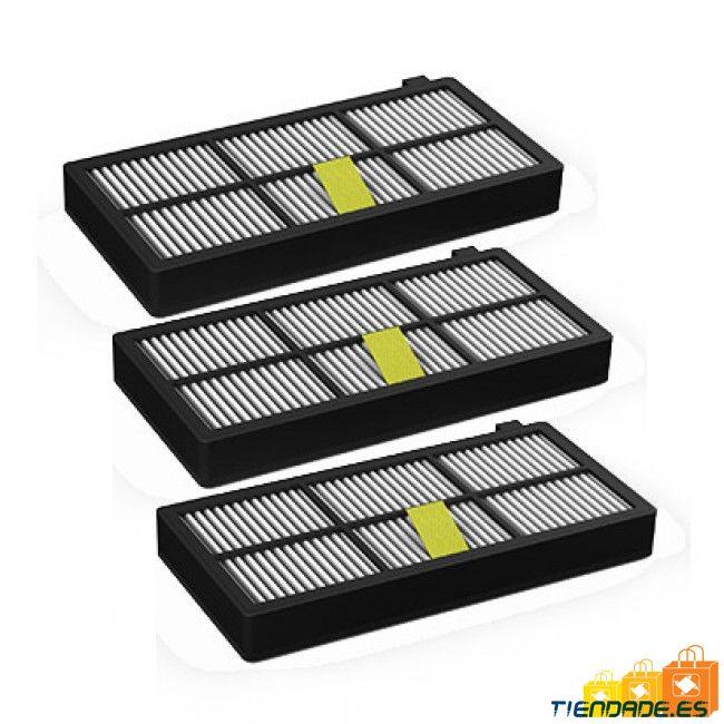 Pack Roomba serie 800 y 900: 3 Filtros Hepa