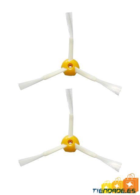 Pack 2 Cepillos laterales de 3 aspas para Roomba serie 500, 600 y 700